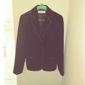 Women's Tahari Sharp Striped Black Blazer-Size 4